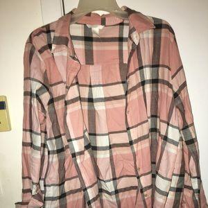 H&M long sleeve button up shirt 14